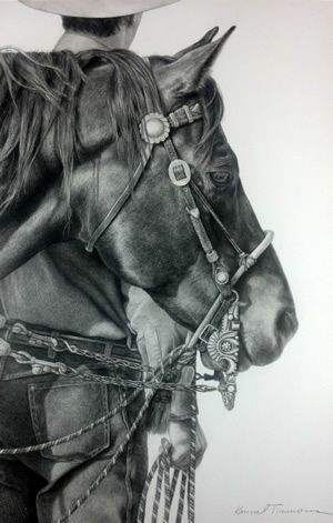 Karmel Timmons: Equestrian Art In Pencil: Originals