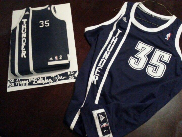 8f68b3252 Oklahoma thunder basketball Jersey cake