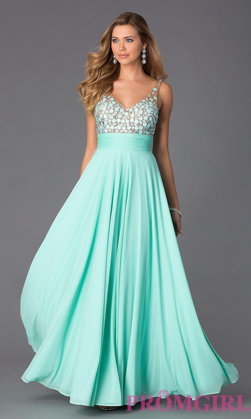 Image of V-Neck Open Back Dress Alyce AL-35697 Style: AL-35697 Front ...