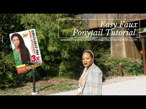 (9) Easy Faux Ponytail #fauxponytail #protectivestyles #naturalhairstyles - YouTube
