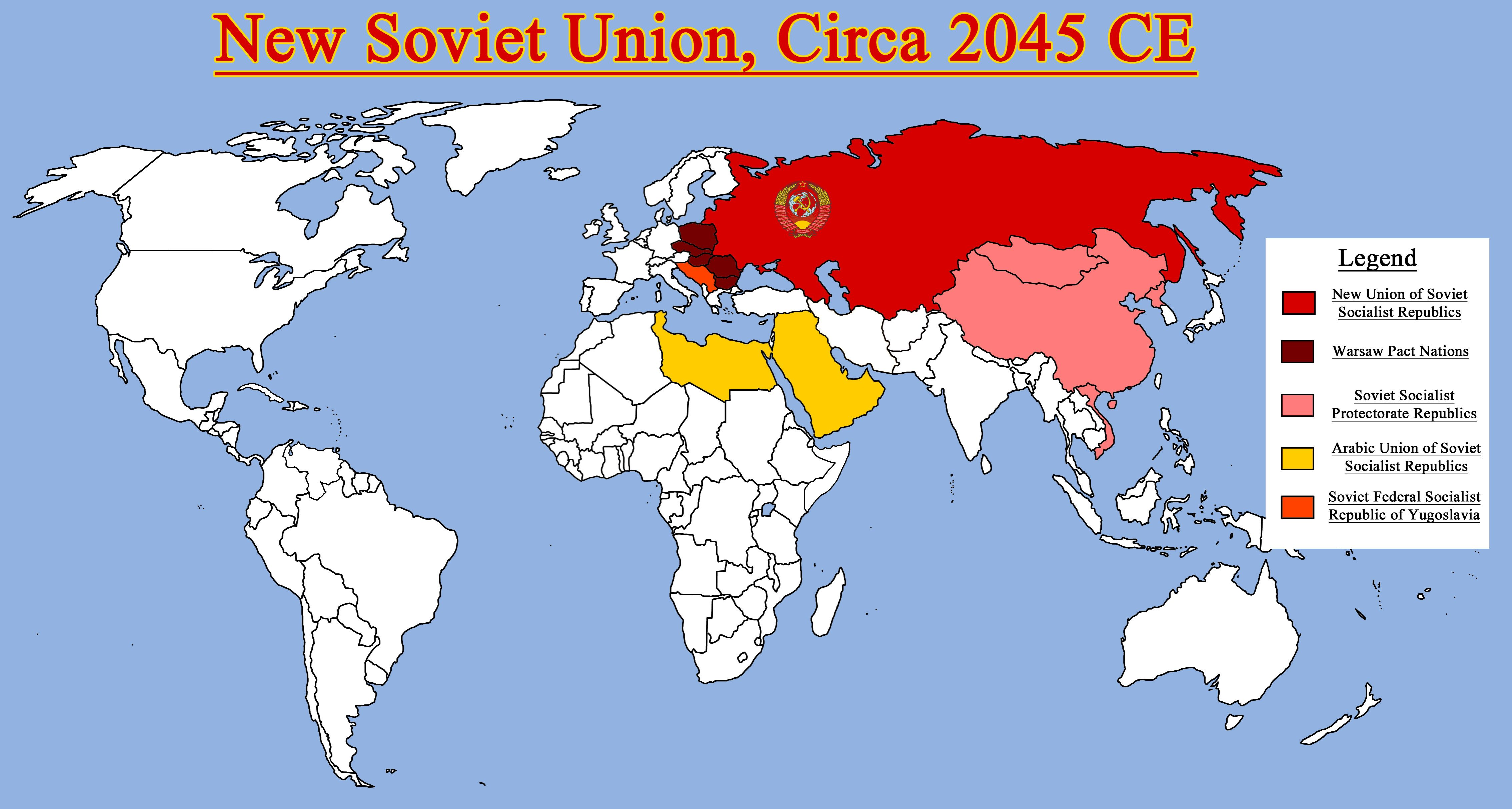Map Of The New Ussr And Allies By Redrich Viantart