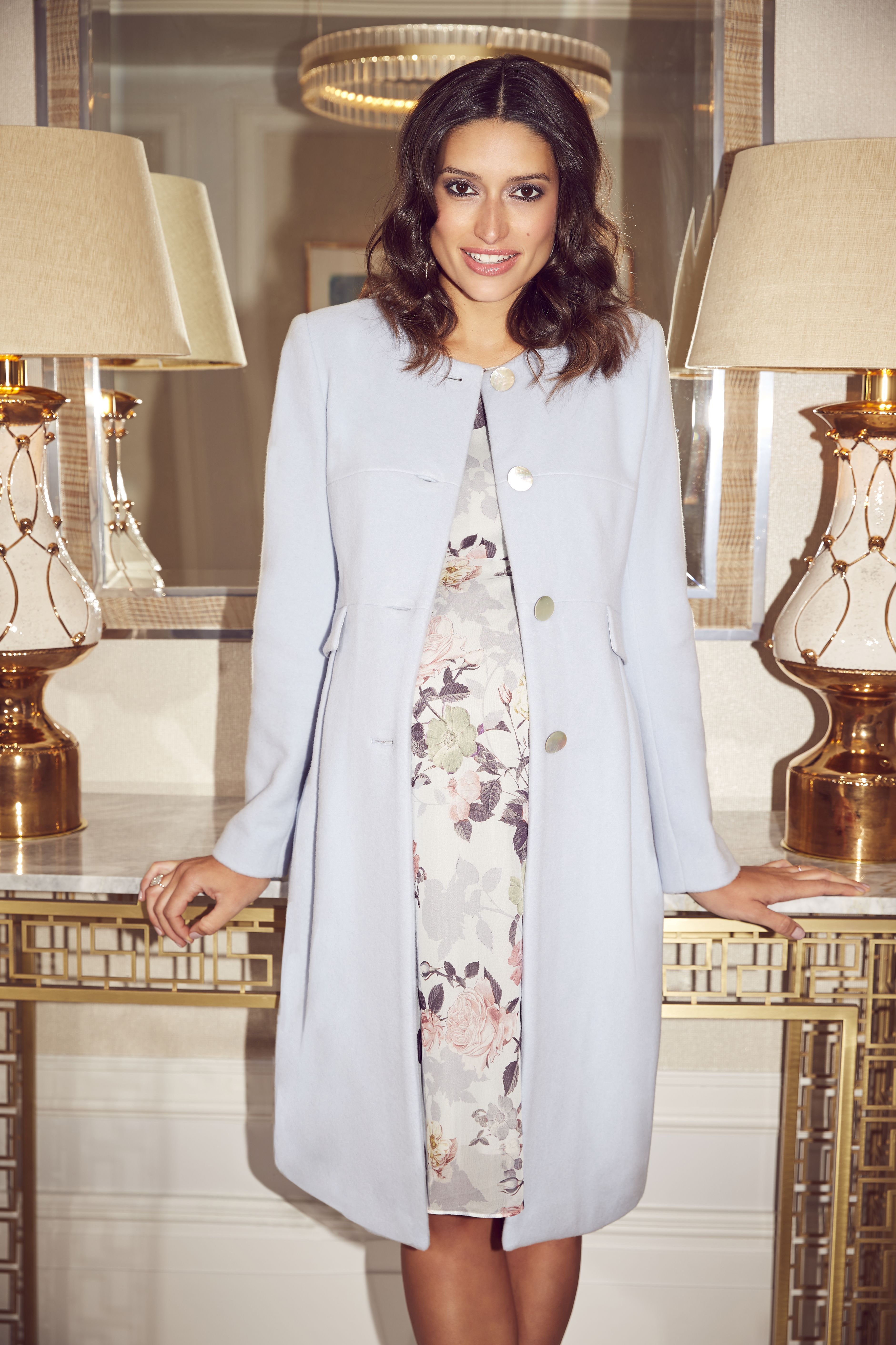 5d43e40bc3d57 Seraphine Natasha Cashmere Blend Maternity Coat | Worn by the Duchess of  Cambridge, the soft mist blue of Seraphine's Natasha Maternity Coat updates  this ...