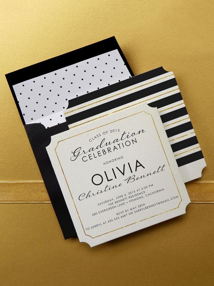 Choose a linen graduation invitation design at Tiny Prints to make