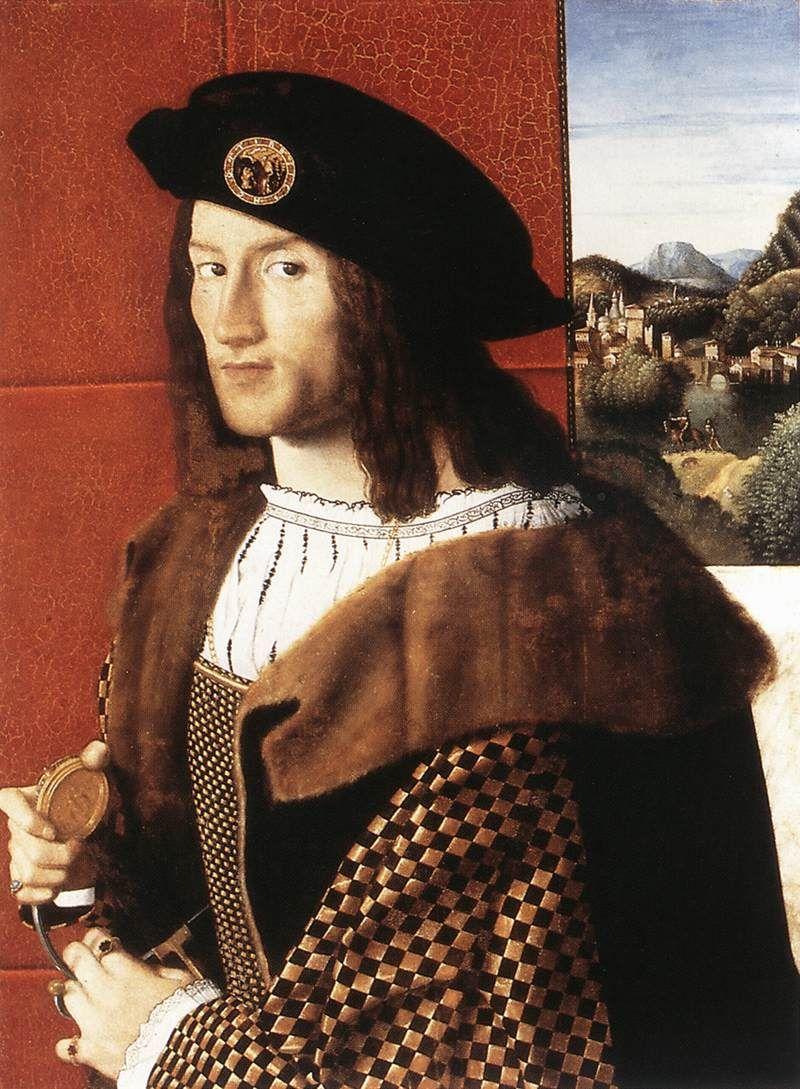 Portrait of a Gentleman Bartolomeo Veneto - circa 1512