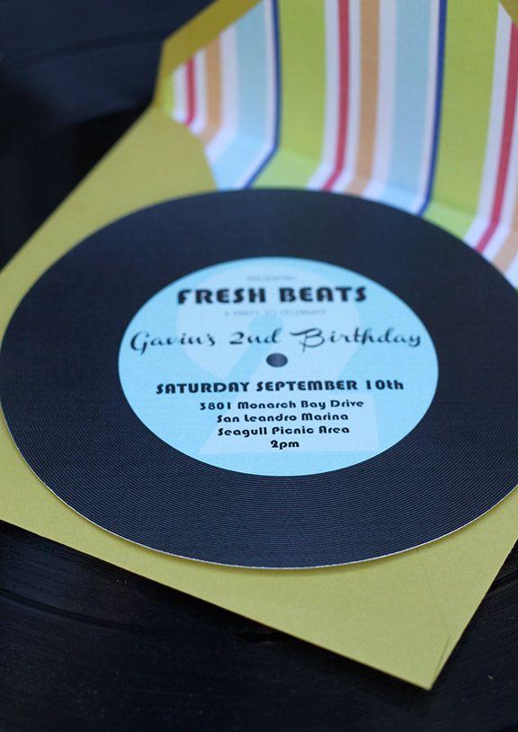 Music Party Record Invitation, bachelorette or shower invite maybe ...