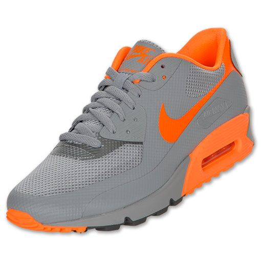 finest selection b4ae4 1e0a0 Nike Air Max 90 Hyp Premium Men s Running Shoes   FinishLine.com    Stealth Total Orange Dark Grey