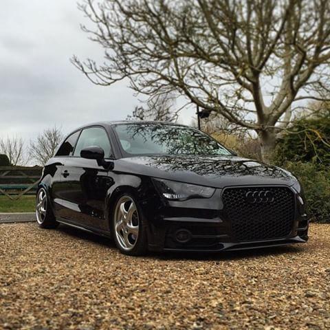 A1 Scottien Audi A1 Black Stealth Slammed Stanced