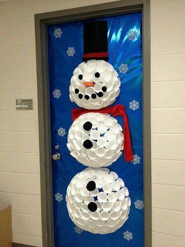 office christmas decorations christmas door decorating contest holiday decor hallway decorations snowman