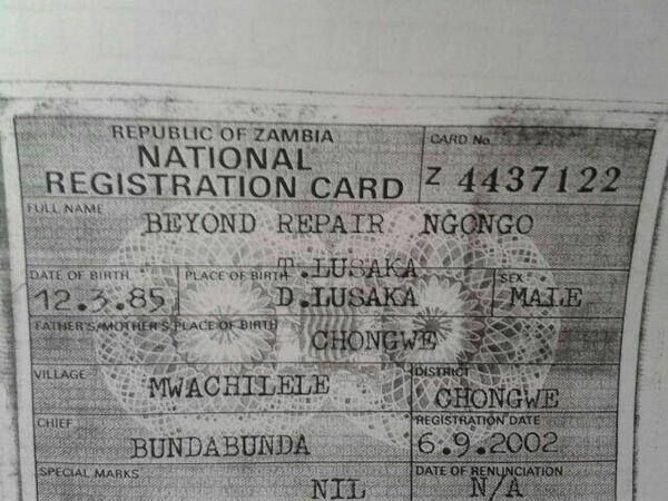 In zambia we have some interesting names beyond repair ngongo in zambia we have some interesting names beyond repair ngongo malvernweather Gallery