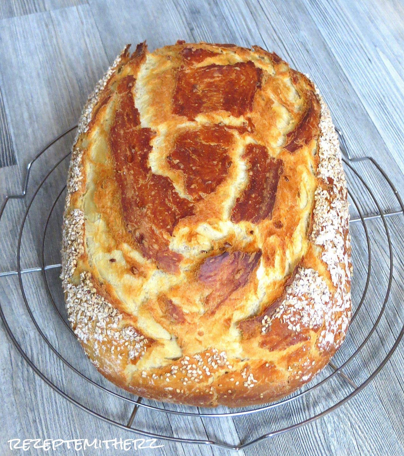 Brot backen kann relativ einfach sein. Hier habe ich ein lockeres