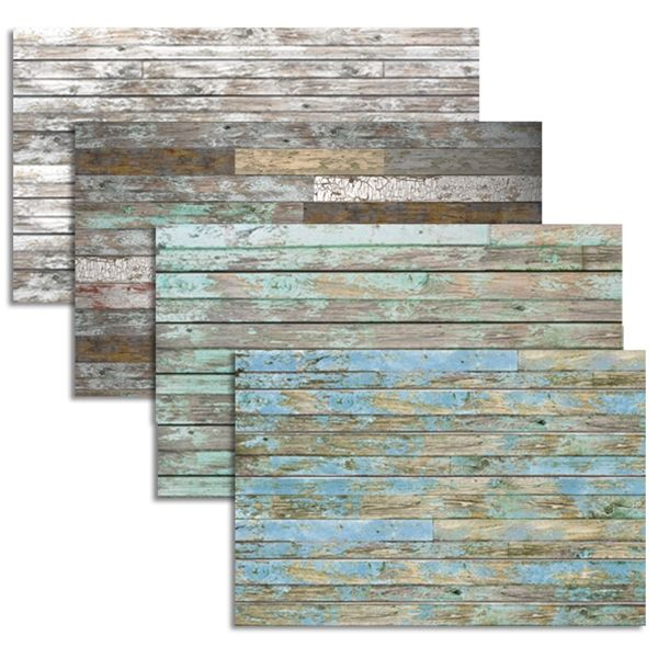 Uplighitng To Accent Wood Slat Wall: Old Painted Wood 3D Textured Slatwall