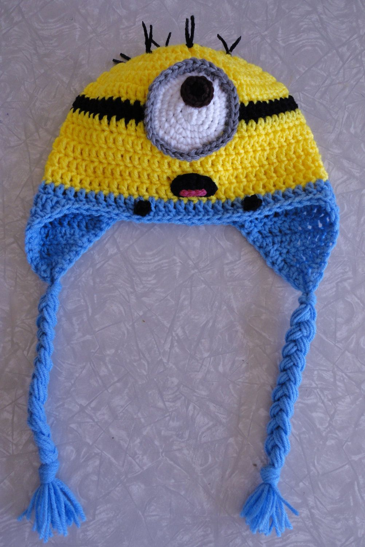 Crochet Minion Hat | hat, scarfs, and mittens | Pinterest | Gorros ...
