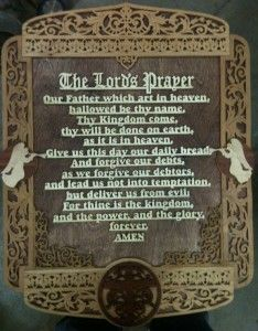 The Lords Prayer Scroll Saw Cutting By Mike Fehring