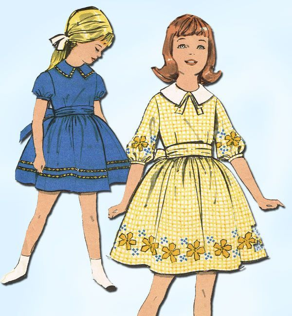 1960s Vintage Advance Sewing Pattern 2961 Sew Easy Little Girls ...