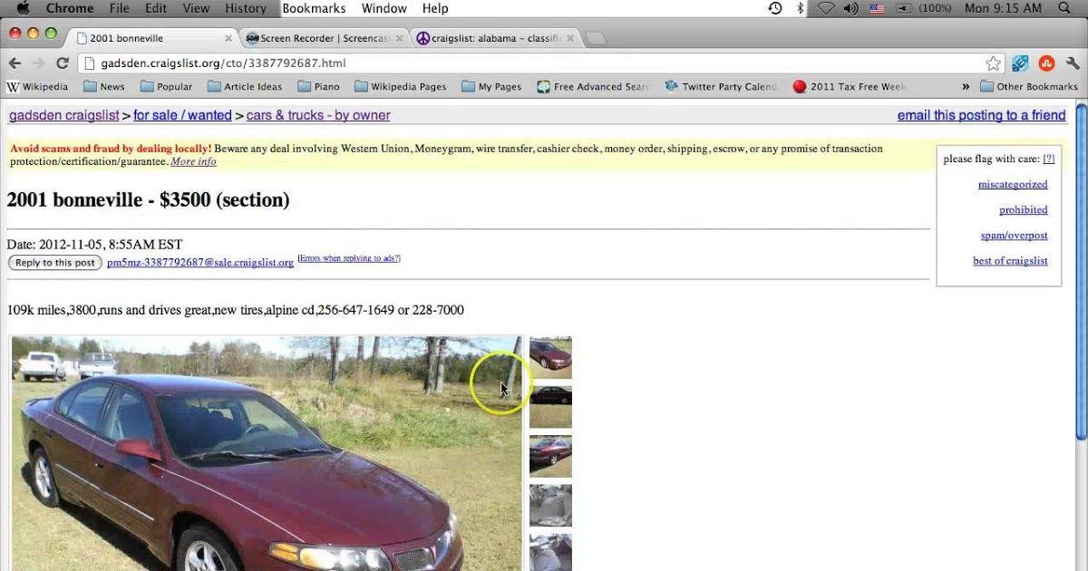 Craigslist Gadsden Alabama Used Cars Online For Sale By In 2020 Used Cars Online Old Used Cars Used Cars
