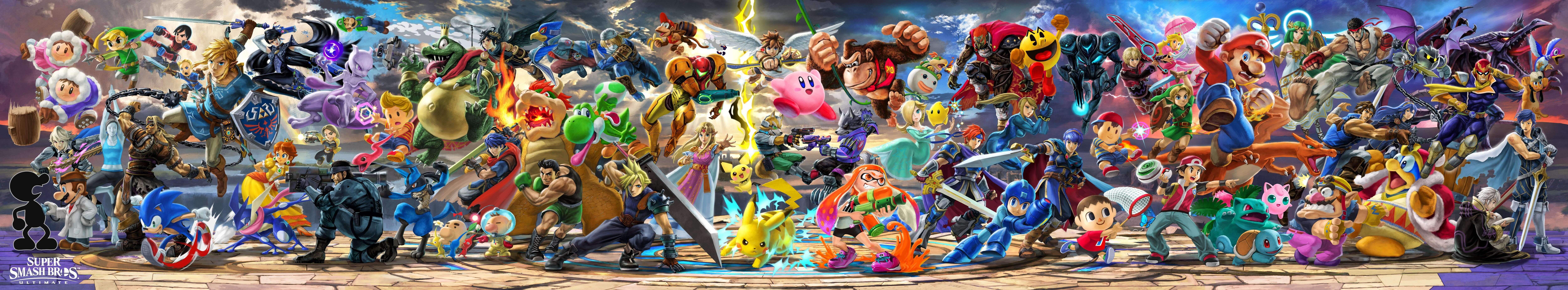 Hd Rendering Of Super Smash Bros Ultimate Mural Including The New Fighters From Smashs Subreddit How Many More Smash Bros Super Smash Brothers Smash Brothers