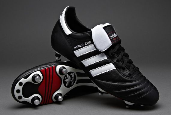 new concept db4b7 f6927 adidas - Football Boots - adidas World Cup - Soccer Shoes - Soft Ground -  Black   White