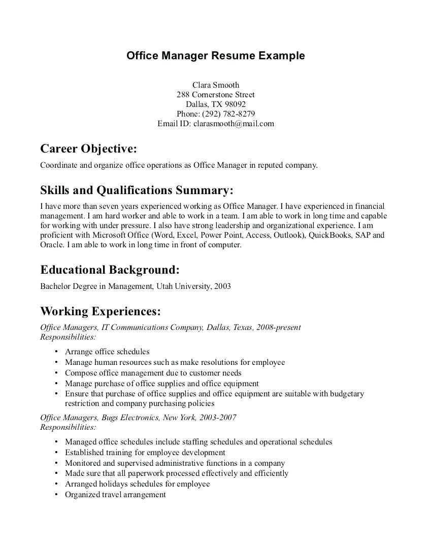 Where to find a resume examples office in