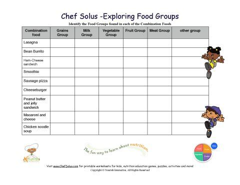 Free educational printables for kids! Click to print nutrition ...