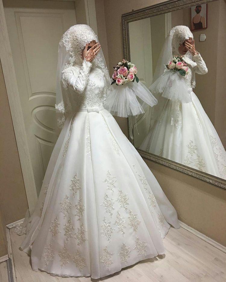 Pin by Sanaa ✨ on Hijab | Pinterest | Wedding dress, Muslim and ...