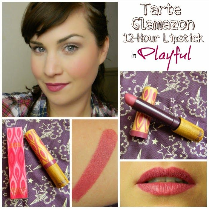 Review & Swatches | Tarte Glamazon 12-Hour Lipstick in Playful ...