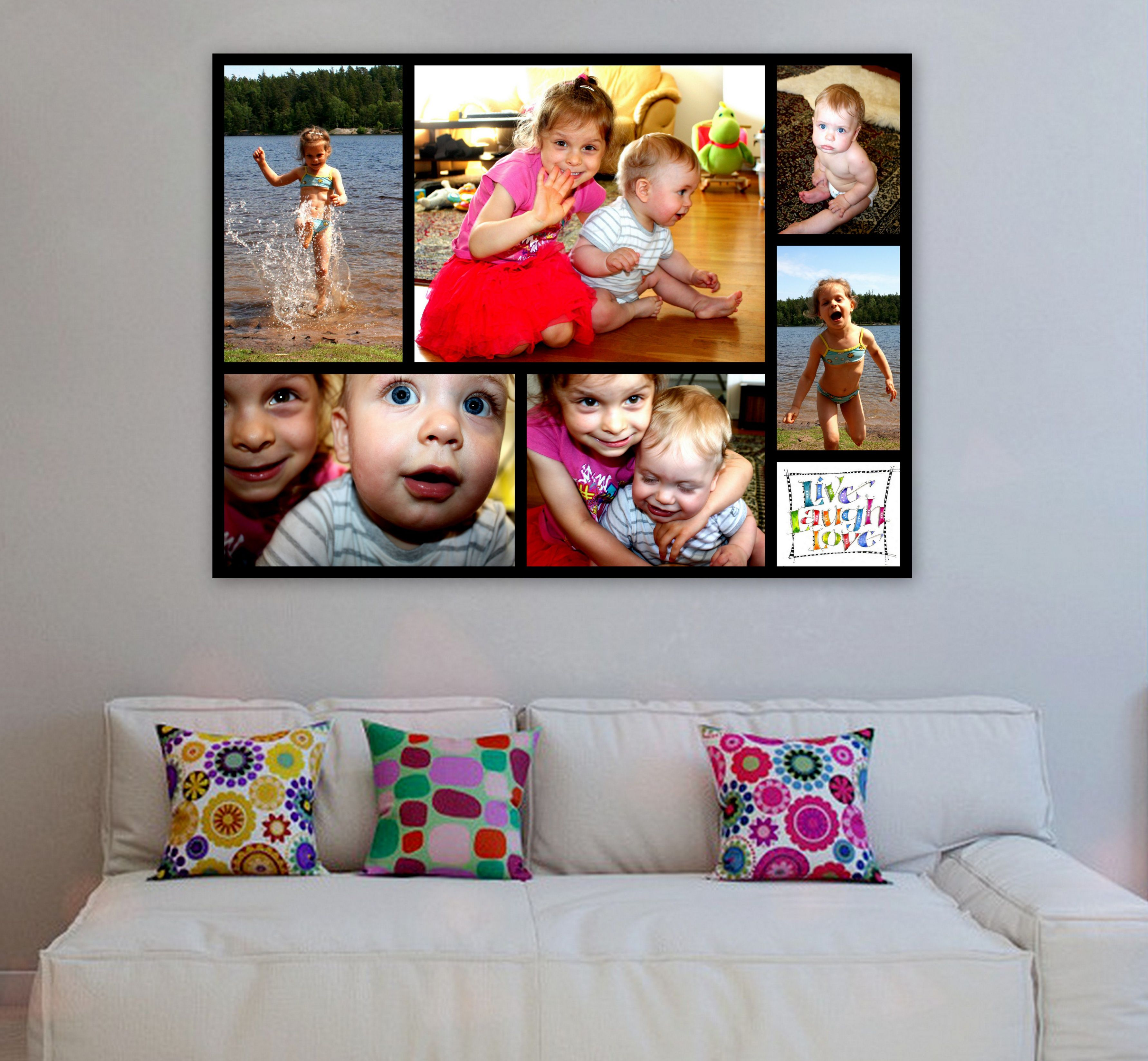 Childrens Room Wall Decor, Handcrafted Customize Canvas Print Wall Art