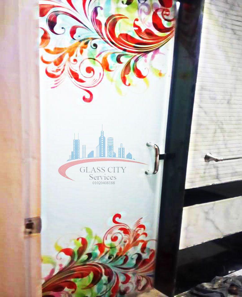 باب زجاج سيكوريت Glass Door Glass Doors