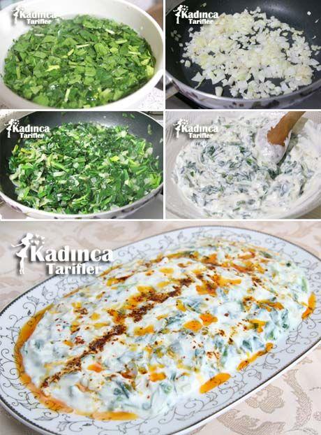 Yoğurtlu Ispanak Salatası Tarifi Videosu 63