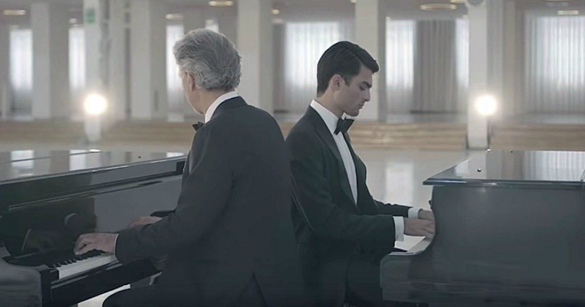 Andrea Bocelli Duets With Son For First Time Ever With Fall On Me