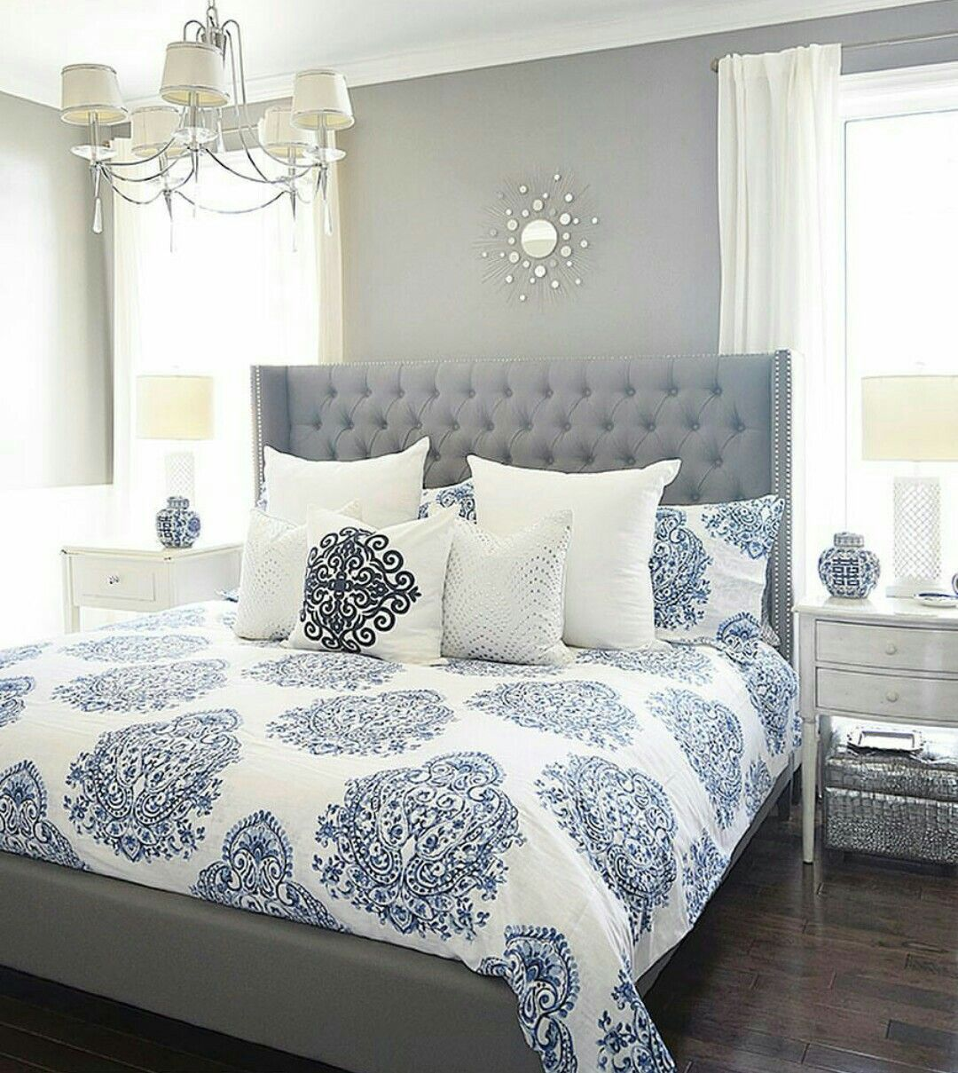 Master bedroom navy blue  Pin by Ale Rocst on Home  Pinterest  Bedrooms Master bedroom and Room