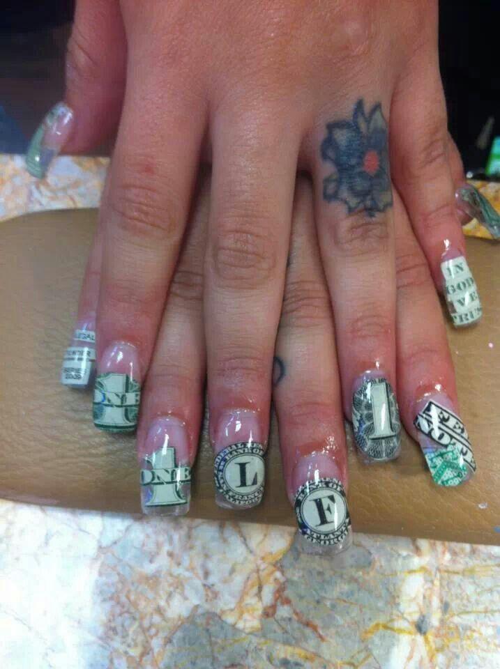 Money nails art nails and more pinterest nail art money and money nails art prinsesfo Gallery