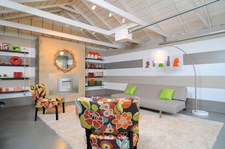 HGTV Garage Turned Lounge - modern - spaces - sacramento - Kerrie L. Kelly