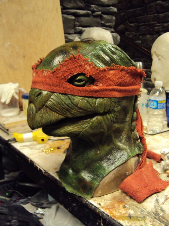 Is anyone else creeped out by this?? Realistic Ninja Turtle Display Piece by ericzapata on Etsy