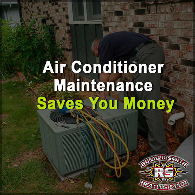 Annual central heating and air conditioning maintenance
