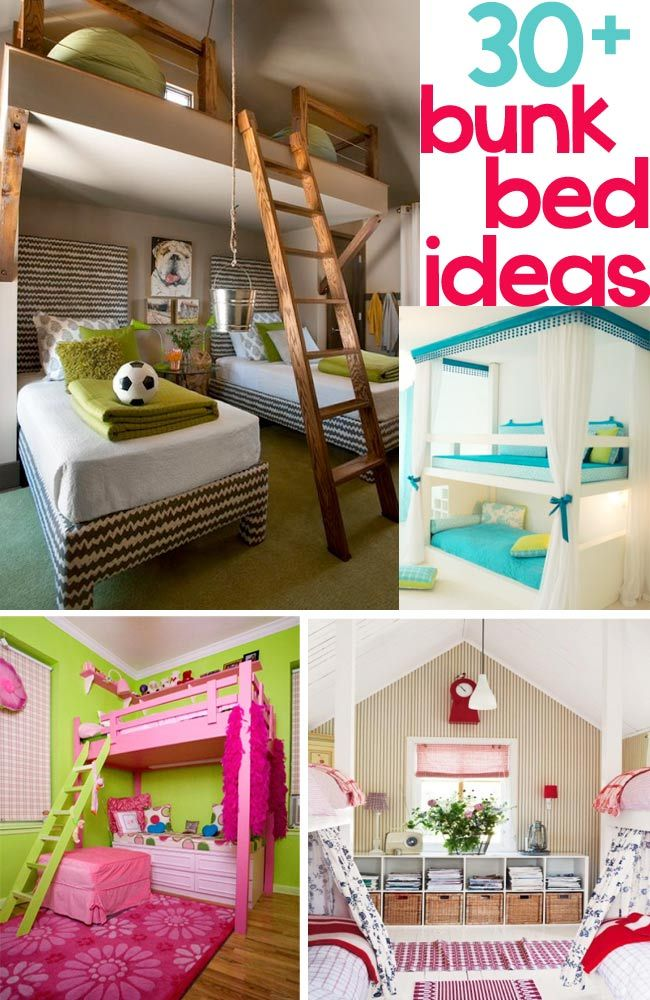 30 Fabulous Bunk Bed Ideas   Design Dazzle With 8 Kids In One House, And 5  Of Us In One Room.