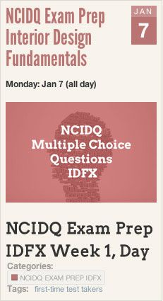 Events NCIDQ Exam Prep Interior Design Fundamentals