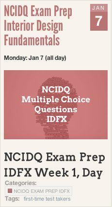 Ncidq Exam Deadlines Study Schedule With Images Interior