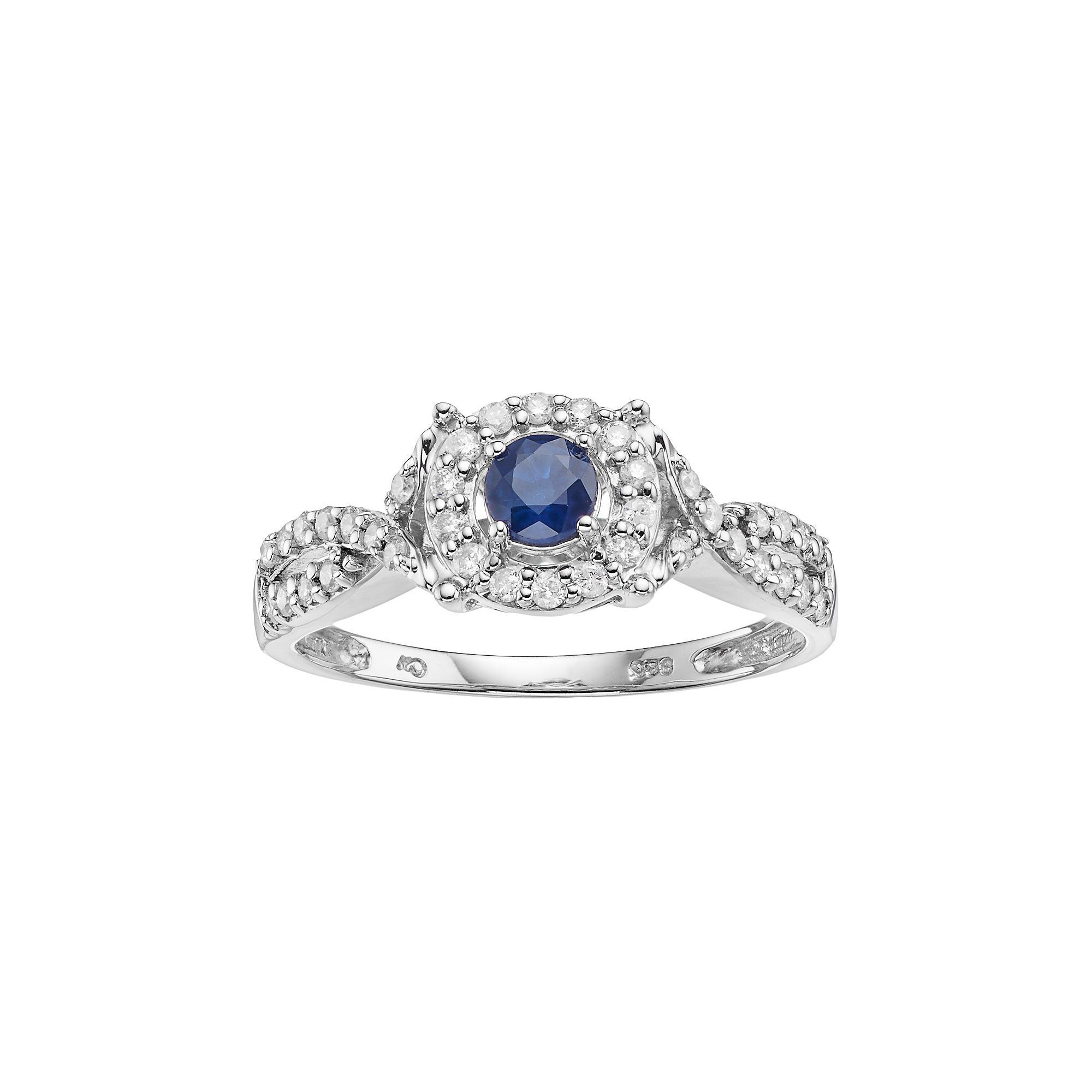 products h cttw stone ring i promise princess white sapphire gold cut engagement blue diamond