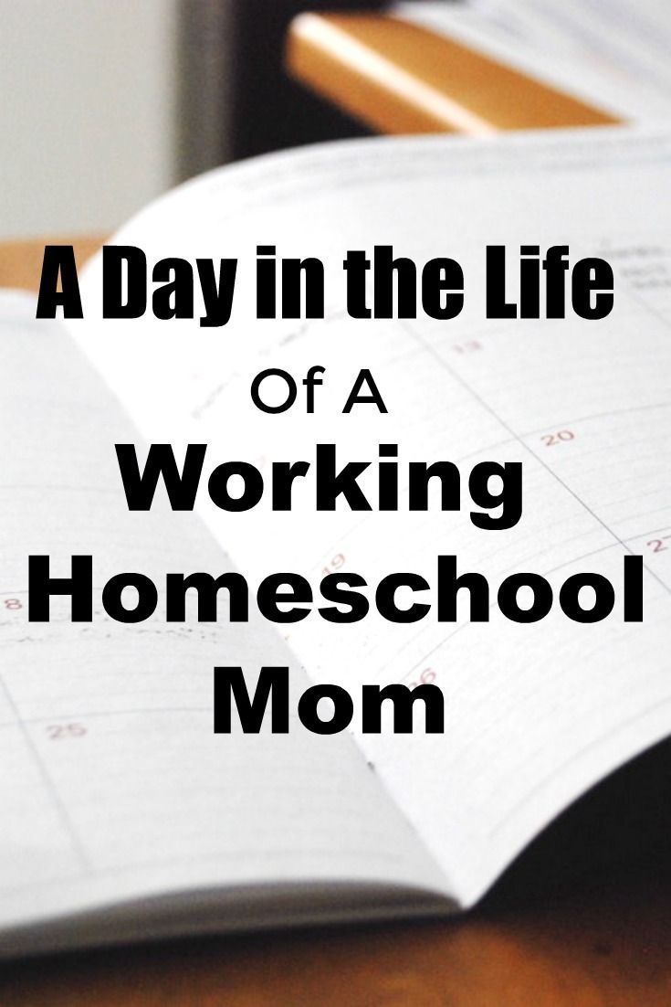 A Day in the Life of a Working Homeschool Mom | Homeschool ...