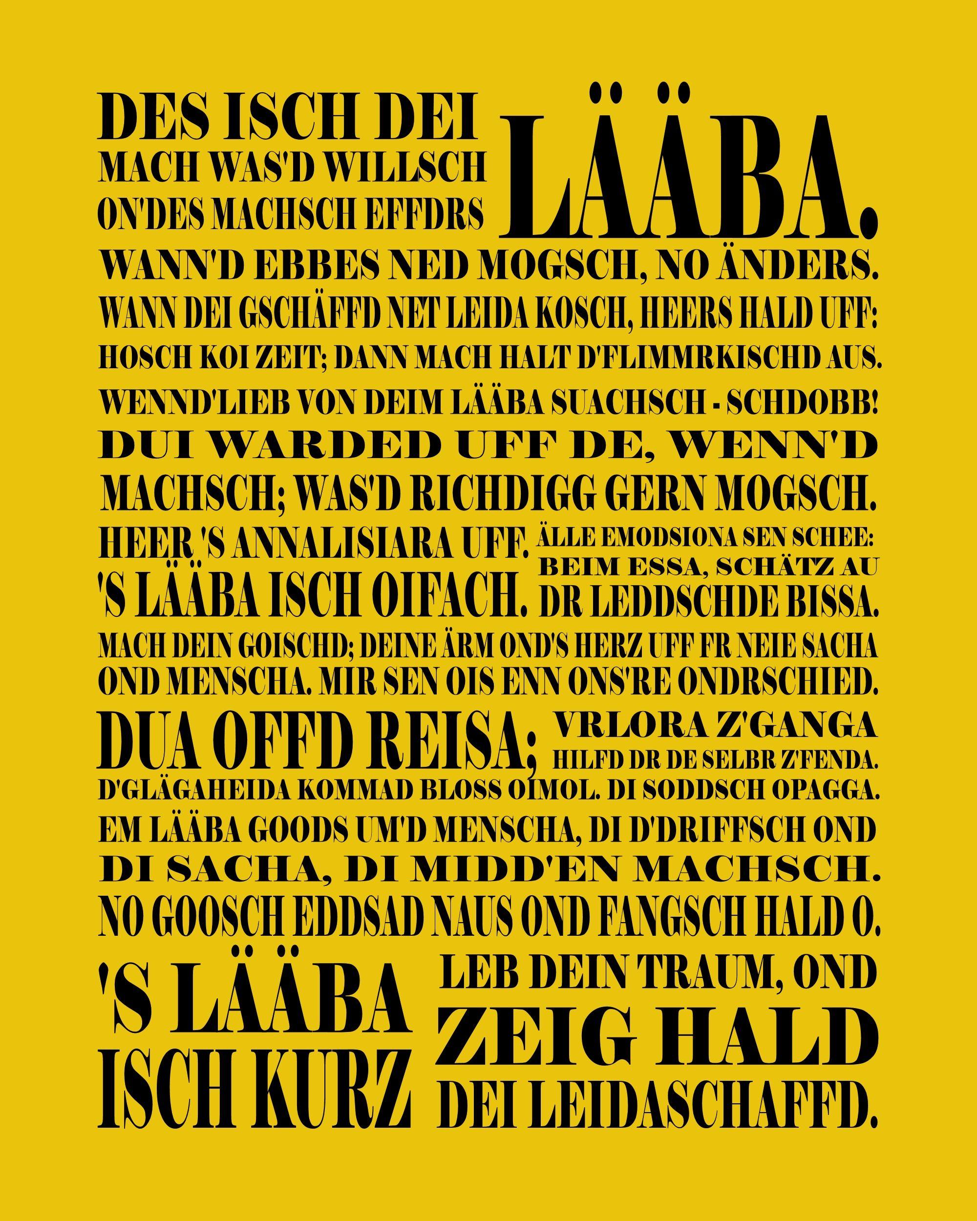 Geburtstag Gedicht Schwäbisch