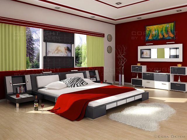 modern schlafzimmer design-ideen für kleine zimmer | dekoration