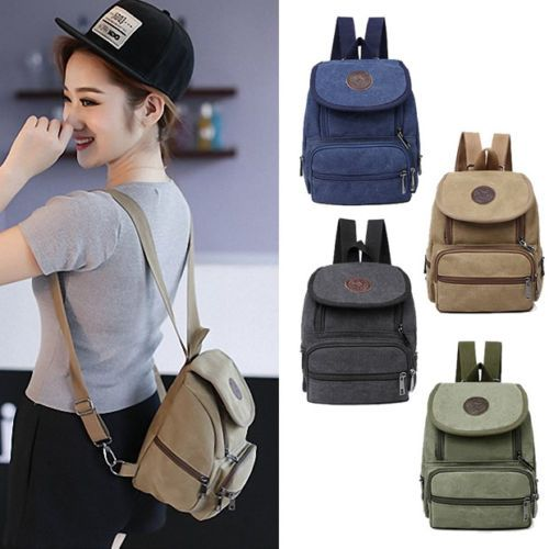 Women-Cute-Retro-Mini-Small-Canvas-Backpack-Rucksack-Purse -Gift-Casual-Travel d6af5e3a7a250