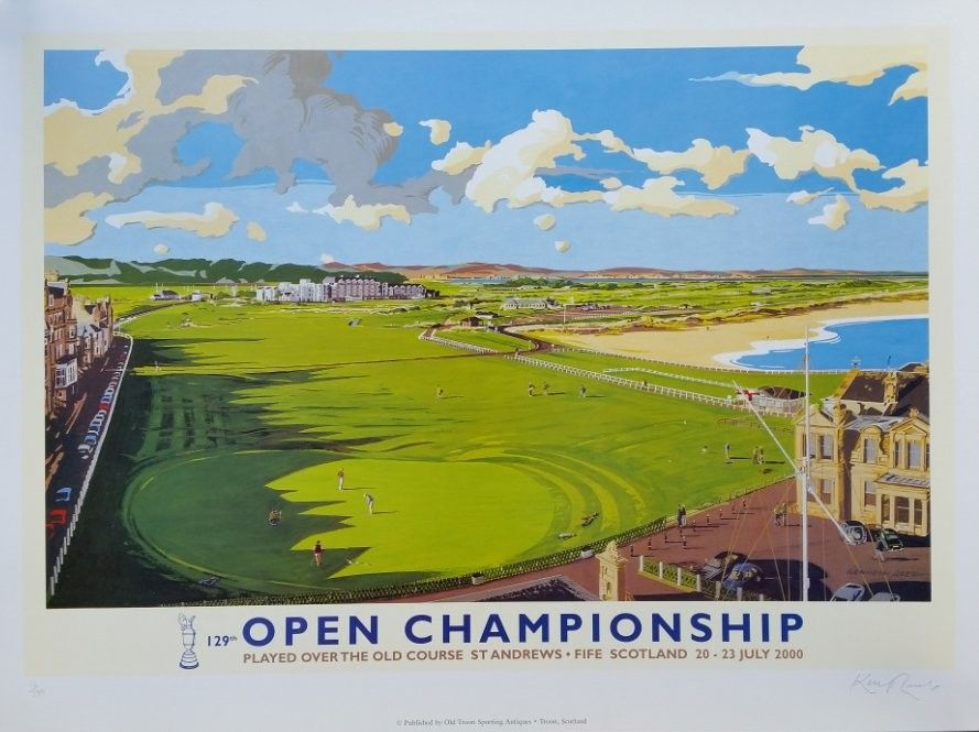 Original vintage poster golf 129th open chamionship in 2000 at St Andrews 16 / 500 - Kenneth Reed