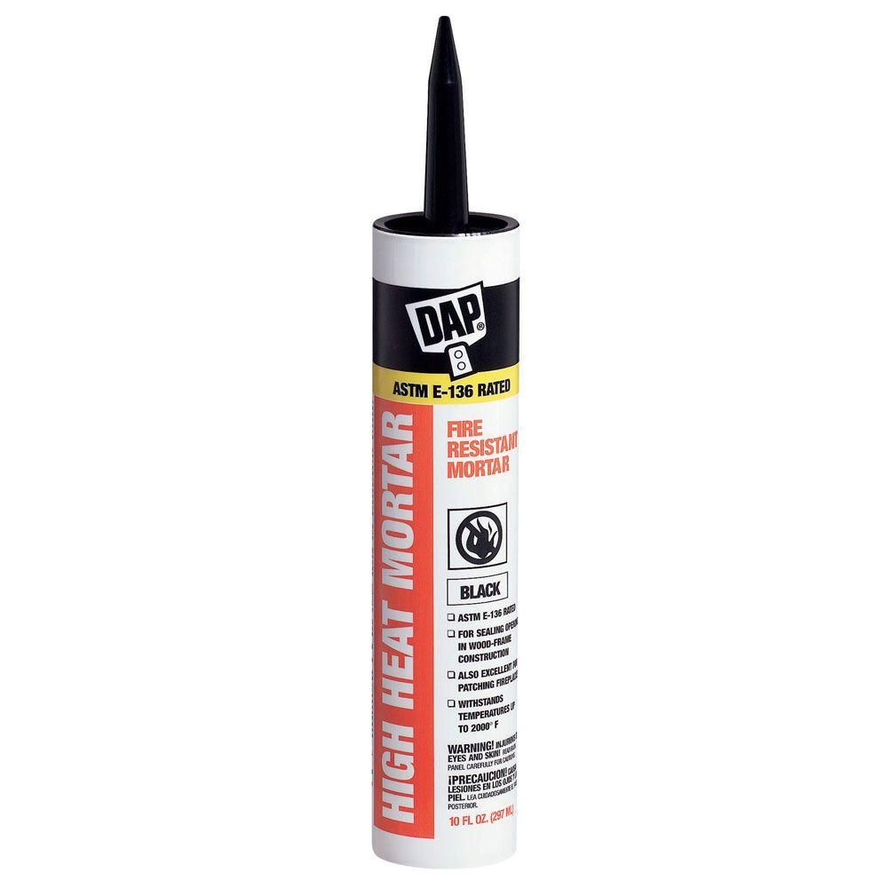 Dap 10 1 Oz Black High Heat Mortar Sealant 12 Pack Fireplace Mortar Mortar Wood Frame Construction