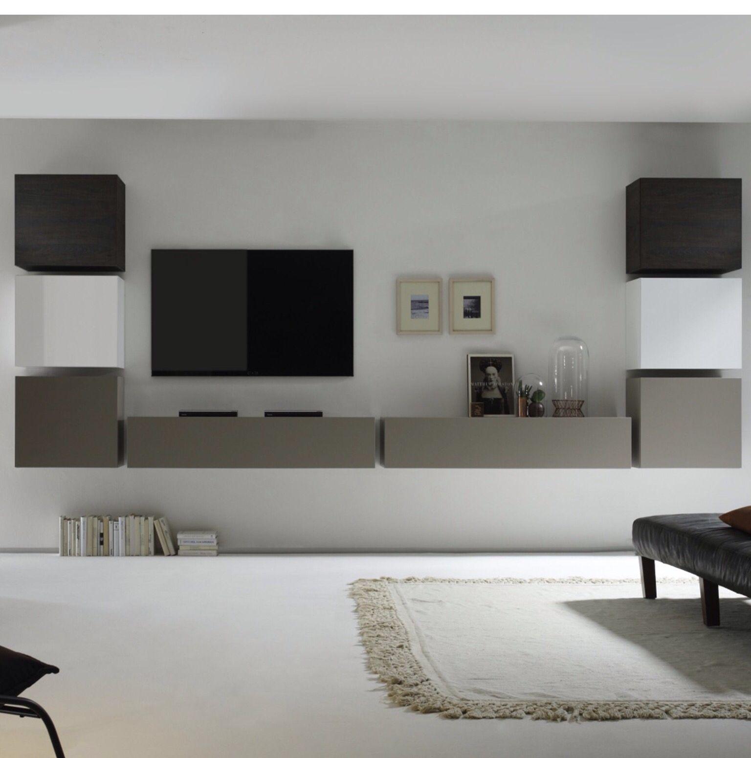 Living Interior Pinterest Meuble Tv Tv Et Meubles # Meuble Tv Au Mur
