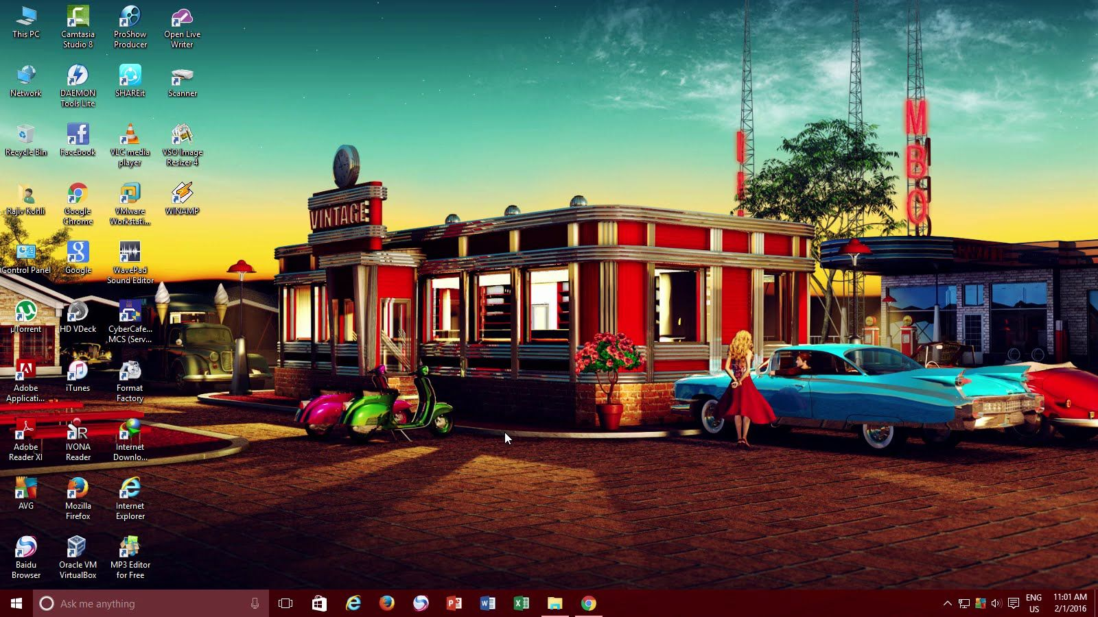 How To Have Animated Desktop Background Wallpaper Windows 10 Tutorial Retro Wallpaper Retro Diner Animated Desktop Backgrounds