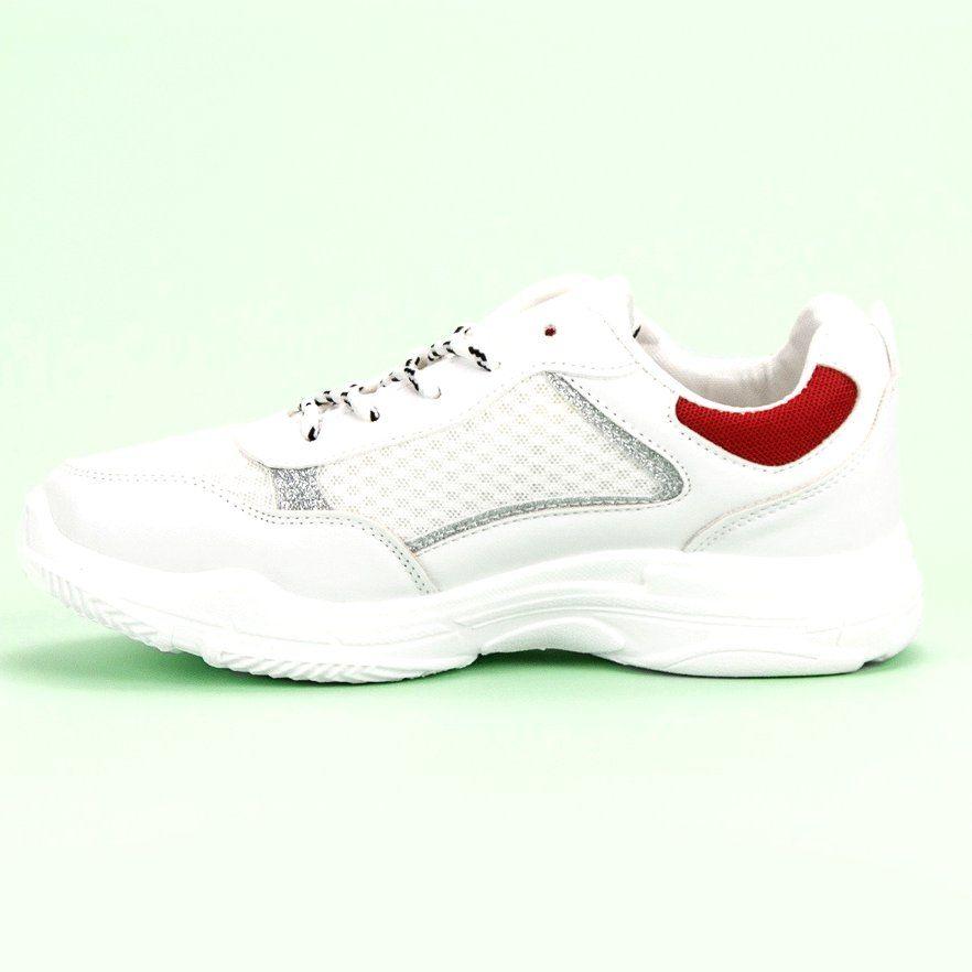 Wygodne Buty Sportowe Biale Boots Sneakers Shoes