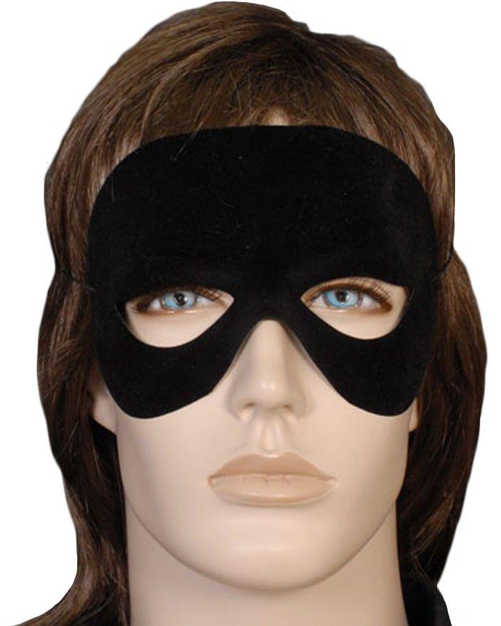 Black Flocked Mask