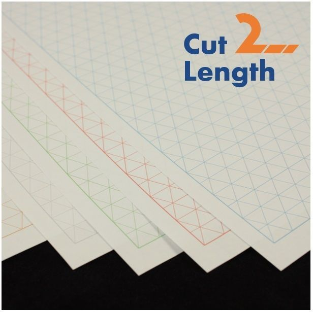 1cm Ternary Triangle Grid Graph Paper, choice of colour, 5 to 100 - triangular graph paper