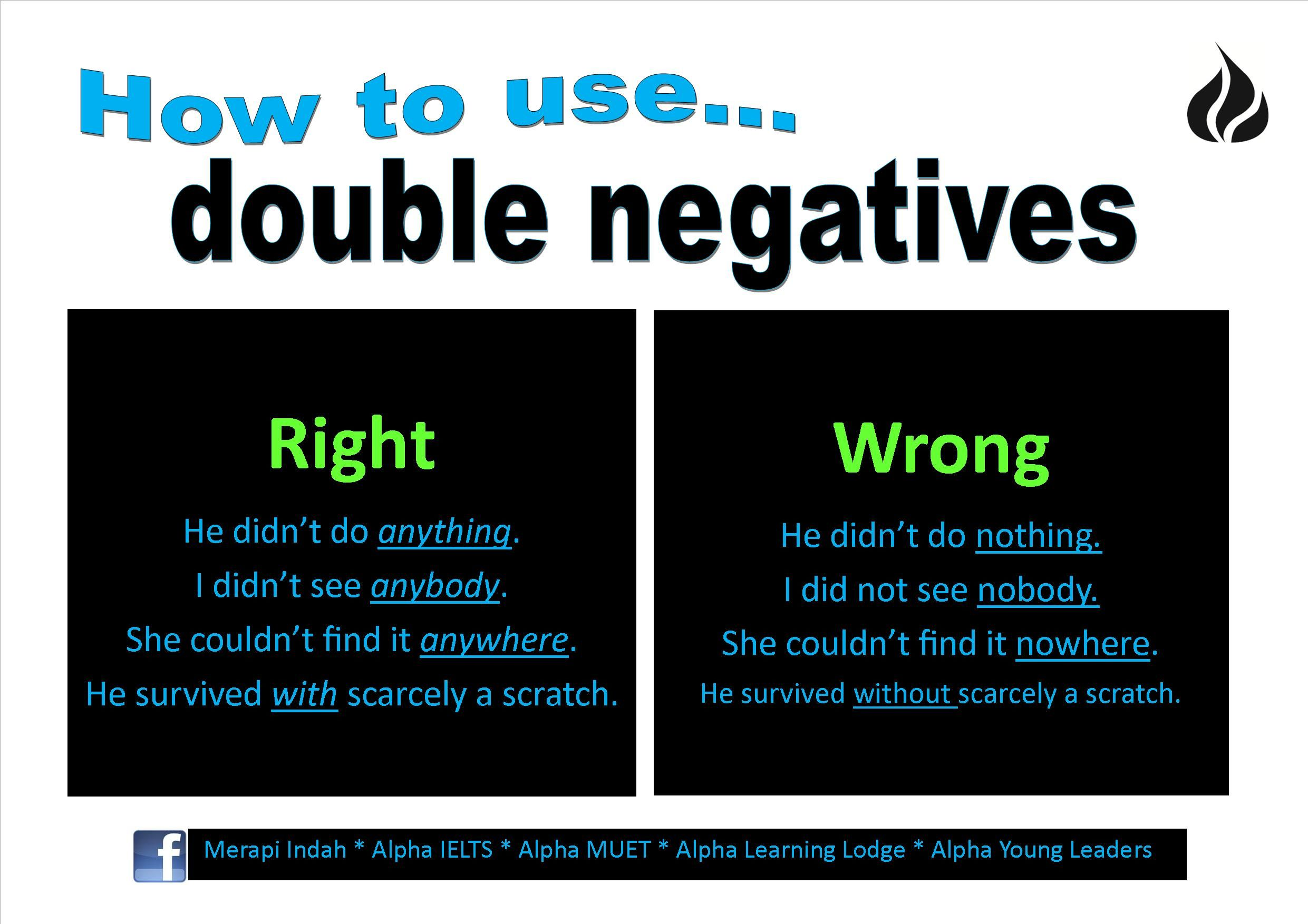How To Use Double Negatives My Biggest Grammar Pet Peeve